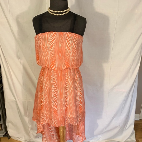 Poetry Dresses & Skirts - Poetry high/low mini strapless sundress in coral.